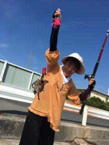 途中の空いた週にはタコ釣りにトライしたりして。
