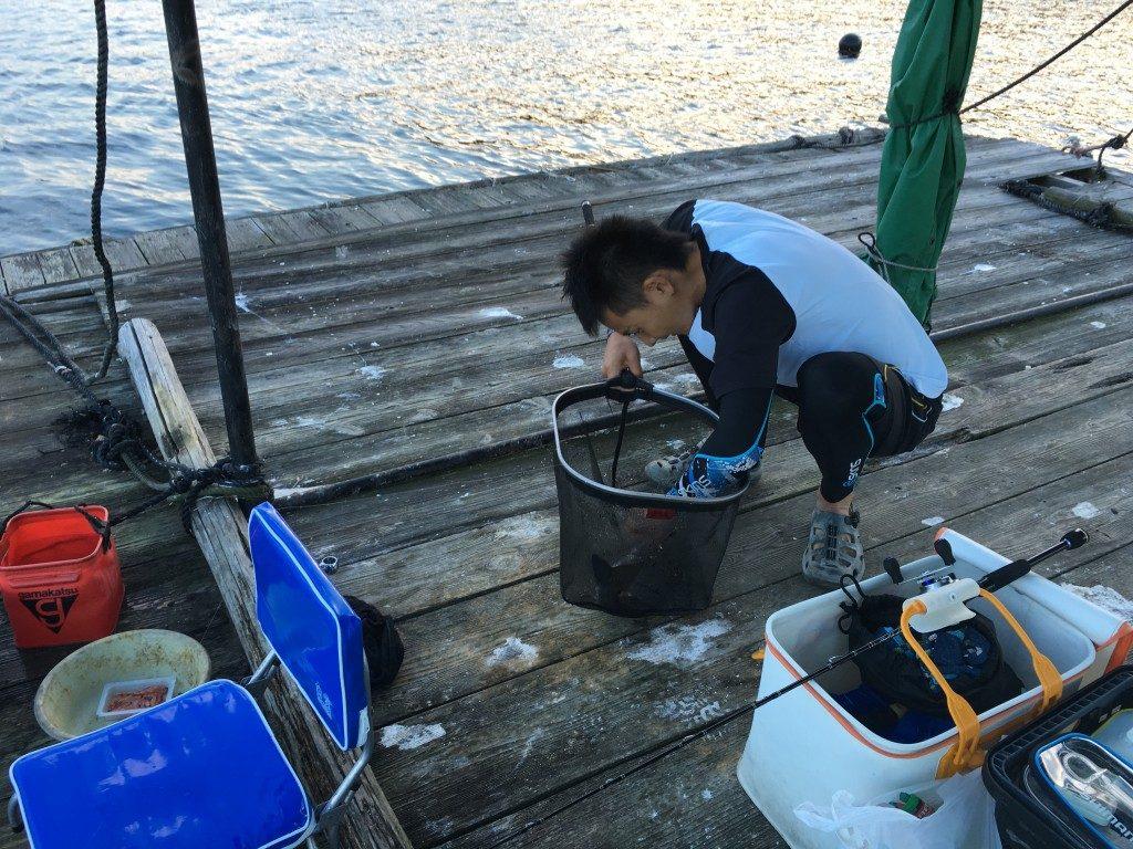 やたらと道具の多い釣り、チヌ釣り。